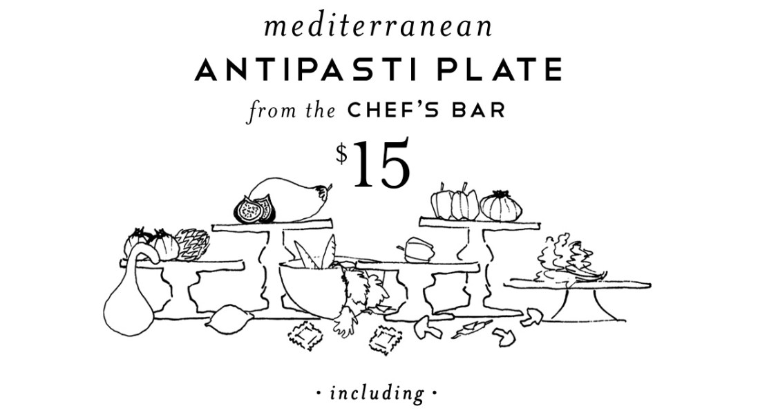 Antipasto Plate from the Chef's Bar, $15